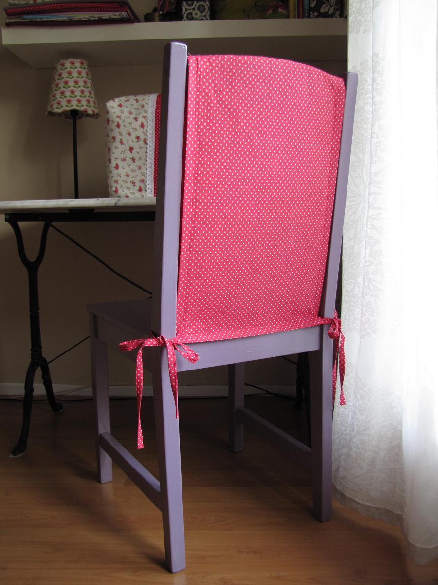 Couture n hen - Housse pour dossier de chaise ...